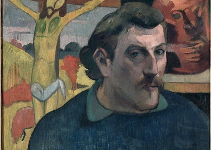 Paul Gauguin, Autoritratto con Cristo giallo, 1890‐91, olio su tela, 38×46 cm, Parigi, Musée d'Orsay