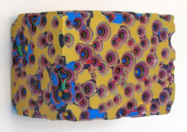 Vincenzo, Frattini, Senza titolo 3-15, 2015, colore acrilico scolpito su legno e resina, Bonelli LAB