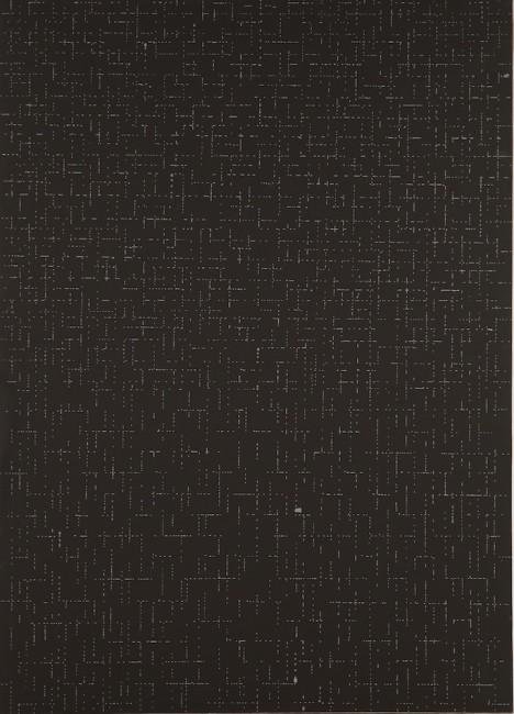 Dadamaino, L'inconscio razionale, 1975, carta intelata, 99.5x74 cm Courtesy A arte Invernizzi, Milano Foto Bruno Bani, Milano