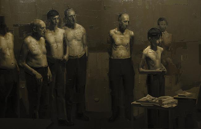 Alfio Giurato, Senza Titolo, 2014-2015, olio su tela, 180x280