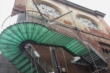 Palazzo della Ragione, dettaglio della scala. (Foto: Roberto Recalcati