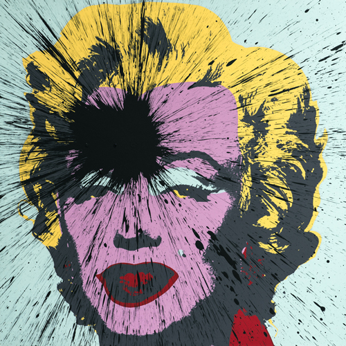 Julian T, Impact Marilyn, dalla serie Fame, 2014, acrilico su serigrafia by Sunday B. Morning, 91x91 cm