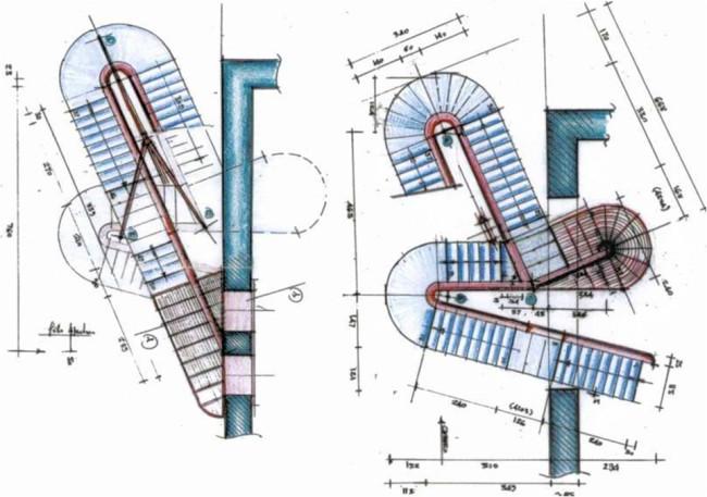Palazzo della Ragione, progetto Marco Dezzi Bardeschi, piante strutturali