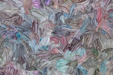 """Premio Gruppo Euromobil Under 30 edizione 2015. Premio del Pubblico - Barbara Prenka, """"Scorcio per un punto di riferimento, 2014"""", collage di carta cancellata, 180 x 150"""