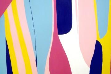 Giulio Zanet, Cadere, 2015, smalto su tela, 130x110 cm