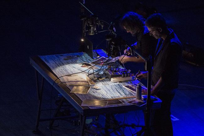 Masbedo per la performance del 10 ottobre al Teatro Zandonai di Rovereto Courtesy  Mart, Foto: Jacopo Salvi
