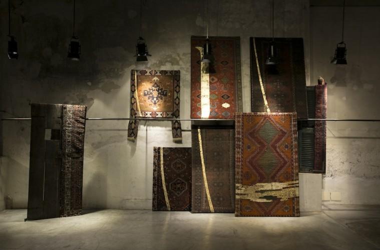 Tempo e Tempio di Mahmoud Saleh Mohammadi, veduta della mostra, Circolo Marras, Milano
