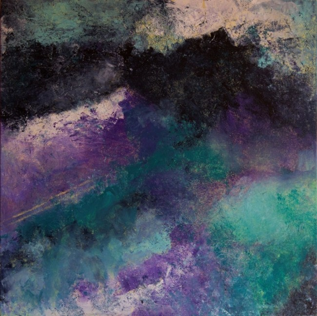 Marina Berra, Nebulosa..., 2015, tecnica mista su tela, 60x60 cm