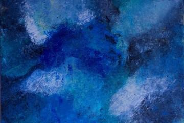 Marina Berra, Uno spicchio del mio cielo, 2015, tecnica mista su tela, 60x60 cm