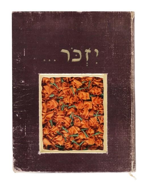 Moshe Gordon, Ricordo, 2013, libro antico e carta, 27.5x21 cm
