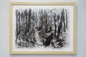 Luca De Angelis, Portrait of a Man, 2015, matita e carboncino su carta, courtesy dell'artista.