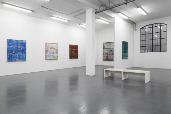 Veduta della mostra Robert Pan. Mahdī, Galleria Giovanni Bonelli, Milano