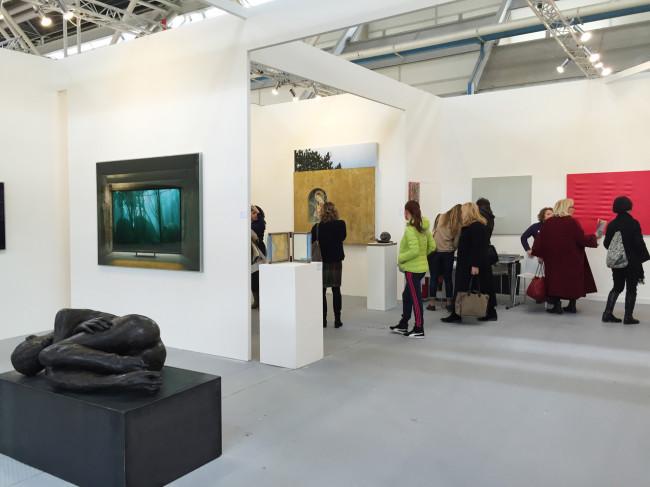 Una veduta dello stand della Galleria Alessandro Casciaro ad Arte Fiera 2016