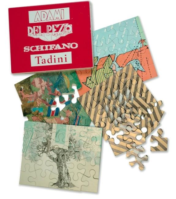 Invito-puzzle per la mostra di apertura dello Studio Marconi, novembre 1965