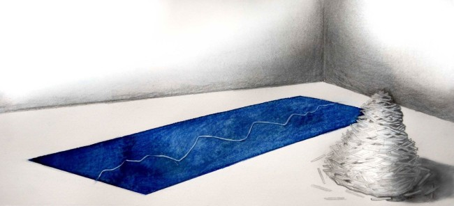 Manuela Toselli, I feel blue, Valico Terminus febbraio 2016