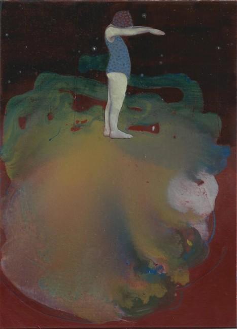 Brutal Imagination, 2016, olio e pastelli su carta, cm 22,6x16,8 cm