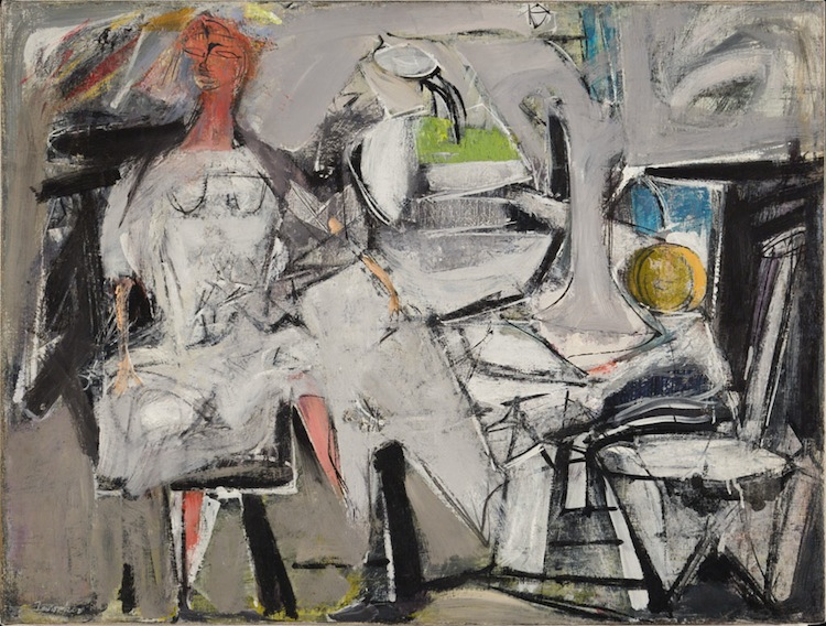 Jack Tworkov Figura astratta, 1949 Olio su tela 55 x 85 cm. Private collection, courtesy of American Contemporary Art Gallery, Munich. Licensed by VAGA, New York, NY © Jack Tworkow, by SIAE 2016