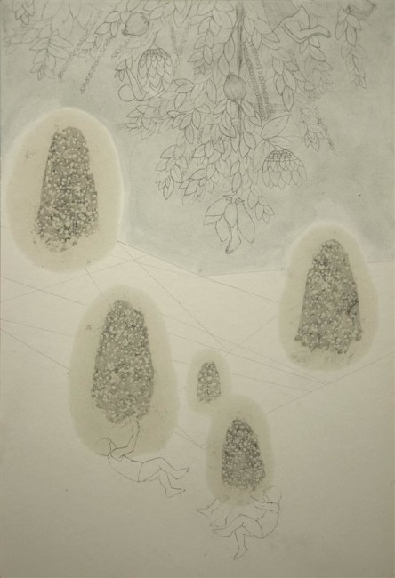 Brutal Imagination, 2016, olio, carboncino e grafite su carta, cm 44x30