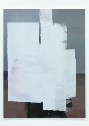 Francesco De Prezzo Null Drapp, 2015 enamel, concrete, varnish, oil on canvas / smalto, cemento, vernice, olio su tela cm. 90 x 70