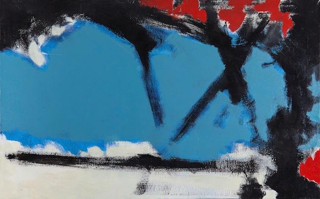 Sergio Armaroli, Naturale astratto, tecnica mista su tela, cm 50x80