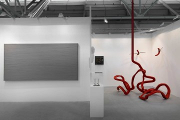 Una veduta dello stand di Bonioni Arte ad Arte Fiera 2016. Foto: Dario Lasagni