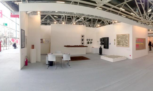 Una veduta dello stand si Spazio testini ad Arte Fiera Bologna 2016