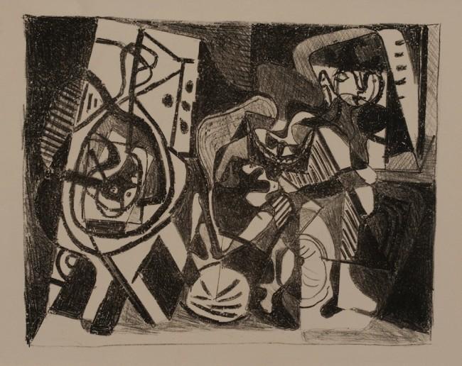 Pablo Picasso, Scene d'interieur, 1926, litografia, 33.2x51.3 cm