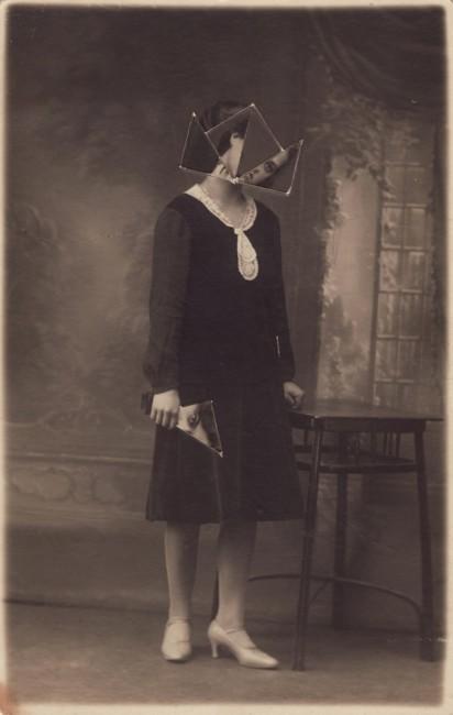 Kensuke Koike, Phase Two, 2012, switched vintage photo, 13x8.5 cm