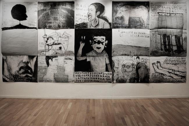 Sandro Mele, Spunti per l'avvenire, Veduta dell'istallazioone, Galleria Art Forum Contemporary, Bologna