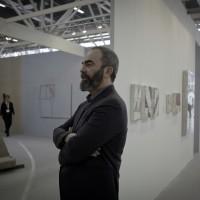 Massimo Biava, ritratto, stand ArteFiera