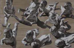 Barbara Nahamd, Babies, 2013, 120x130 cm