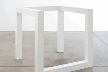 Sol LeWitt, Incomplete Open Cube 8/5, 1974, baked enamel aluminum, 105.4x105.4x105.4 cm