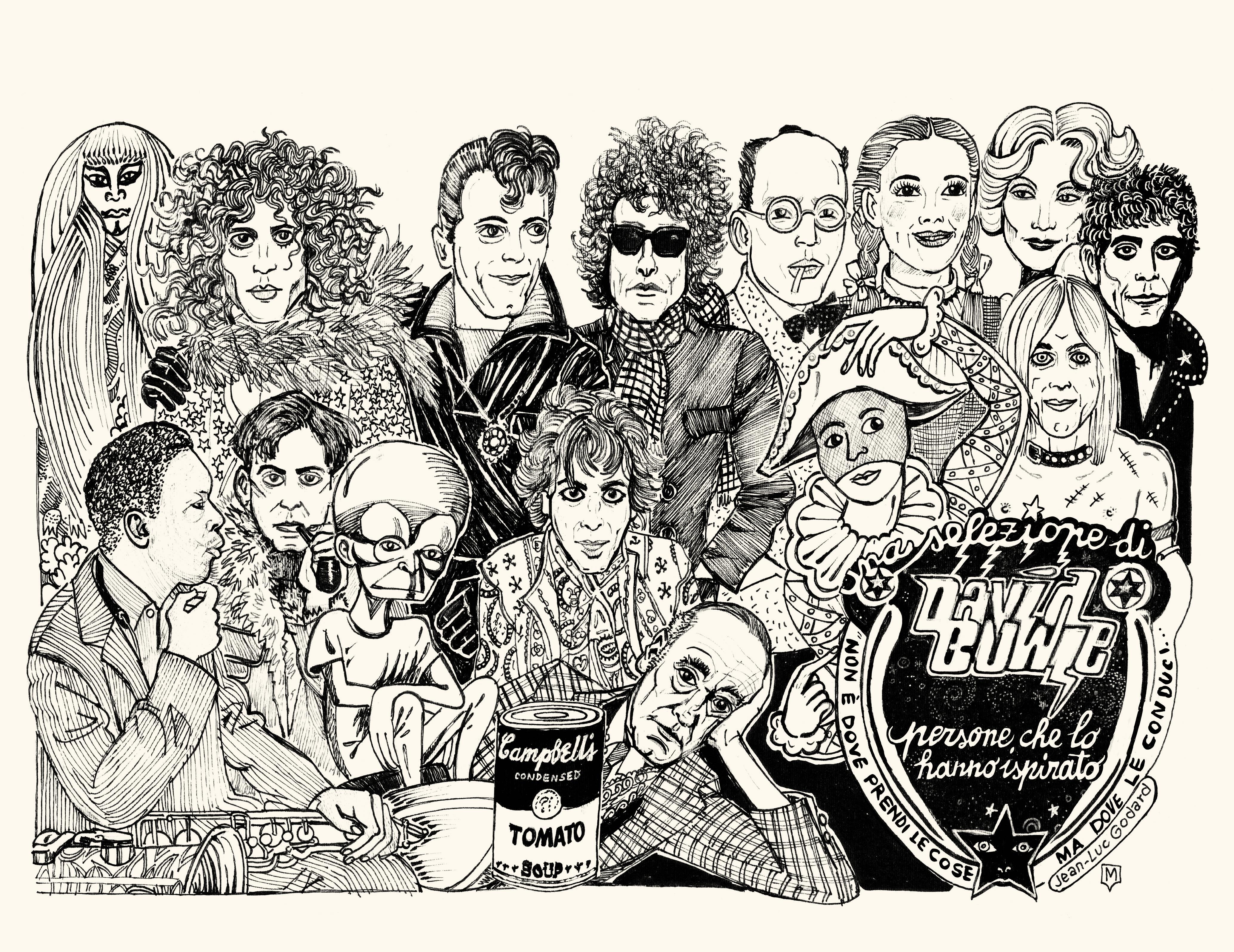 David Bowie Play Book, 24 ORE Cultura, disegni di Matteo Guarnaccia