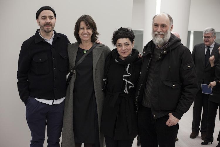 I premiati con la curatrice Daneri e il presidente di giuria Arienti