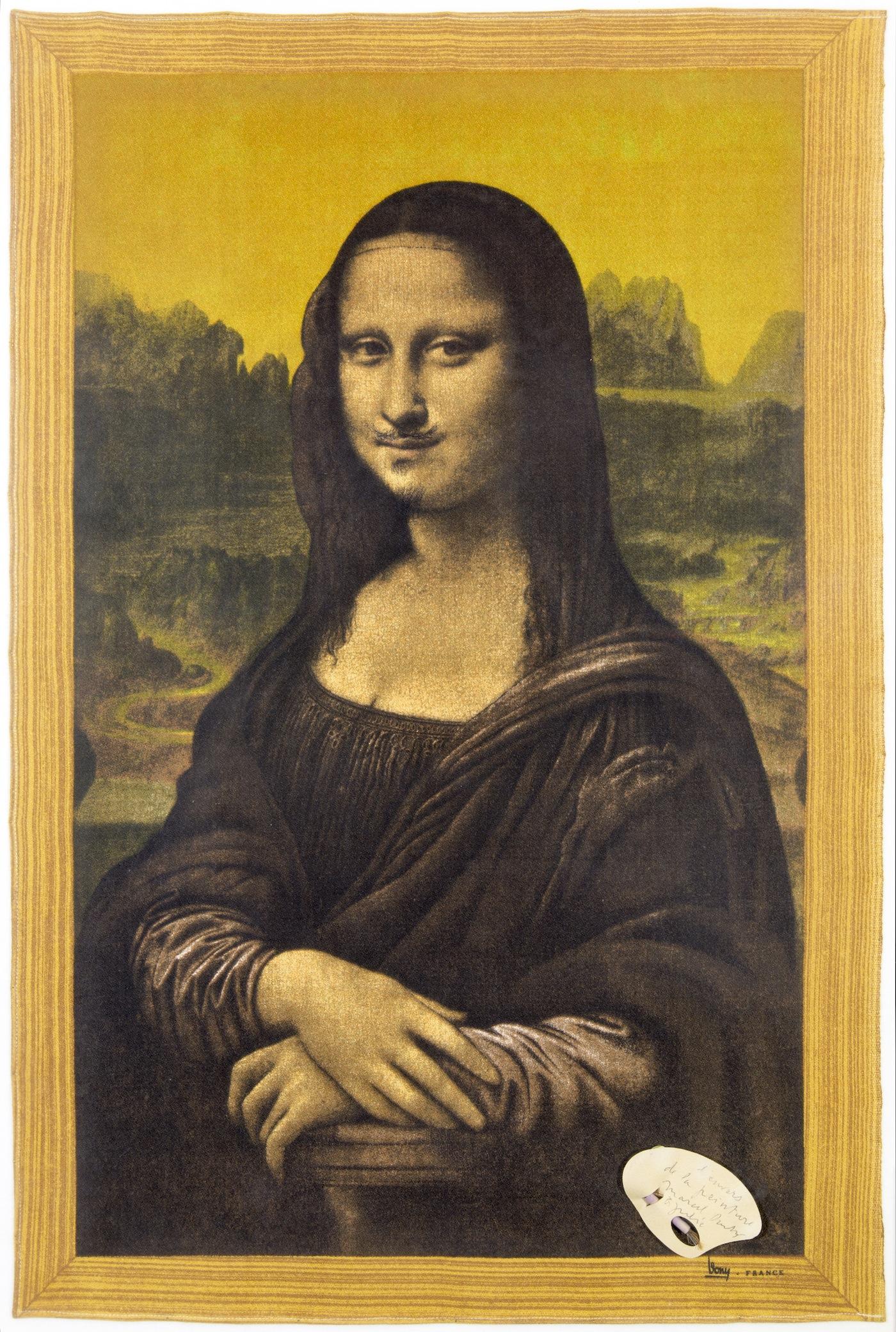 Marcel Duchamp, L'envers de la peinture, 1955, tessuto penna e collage, cm 73.5×48, Collezione privata