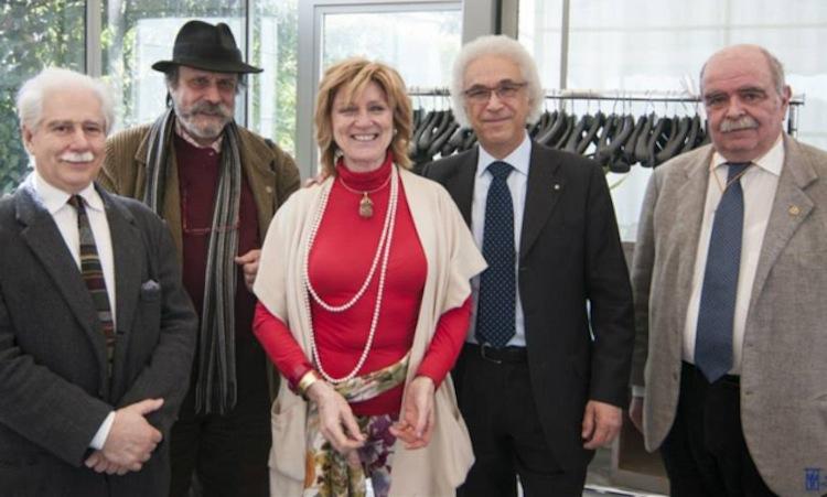 ARTOUR-O D'ARGENTO 2014, Vittorio Livi, Daniele Lombardi, Tiziana Leopizzi con il presdiente dell'Accademia delle Arti del Disegno