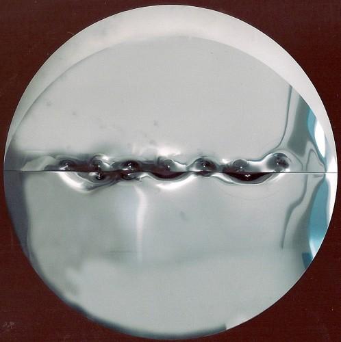 Angelo Brescianini, Senza titolo, due lastre acciaio inox, diametro 132