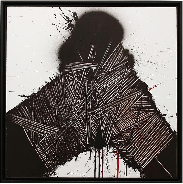 Emilio Scanavino, Eccesso, 1969, olio su tavola, cm 80x80