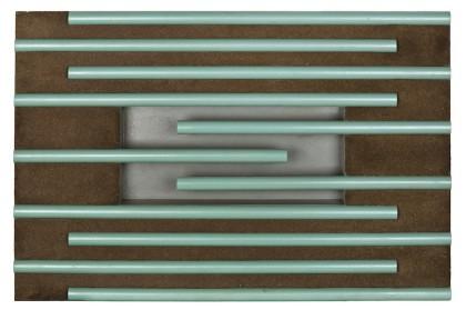 Dennis Oppenheim, Ground System 1968 modello in legno, tubi in legno dipinti, 30x60x90 cm Courtesy Montrasio Arte, Milano