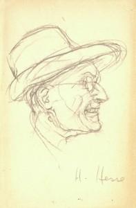 Hermann Hesse. Autoritratto inedito. Courtesy Fondazione Hrmann Hesse Montagnola