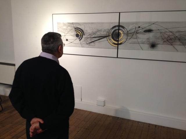 Veduta della mostra Walter Valentini. Astrolabio: a un passo dal cielo, Il Fondaco, Bra