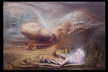 Agostino Arrivabene, Cauda Pavonis, 2016 olio su lino cm 135 x 200