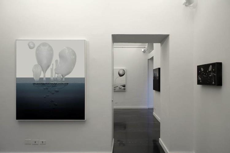 Veduta della personale Scintillation da Riccardo Costantini Contemporary a Torino