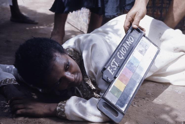"""Set del film """"Il fiore delle Mille e una notte"""", 1974 © Roberto Villa/Cineteca di Bologna"""