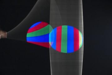 Piero Fogliati, Rivelatore cromocinetico, 1991-97, tecnica mista, proiettore cm. 18x54x18, cavo diametro cm. 0,6x280
