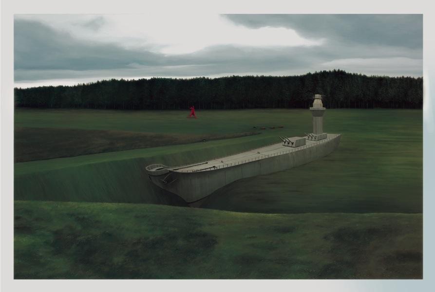 Anna Conway, Potential, 2015, olio su lino, 132.8x203.2 cm Courtesy Collezione Maramotti © Anna Conway
