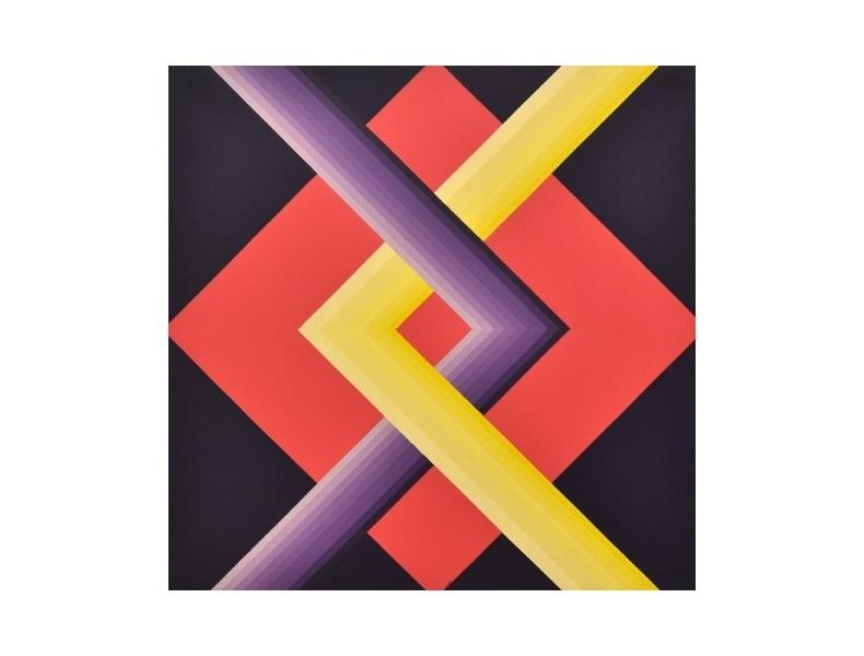Fernanda Fedi, Struttura, 1972, acrilico su tela, 100x100 cm