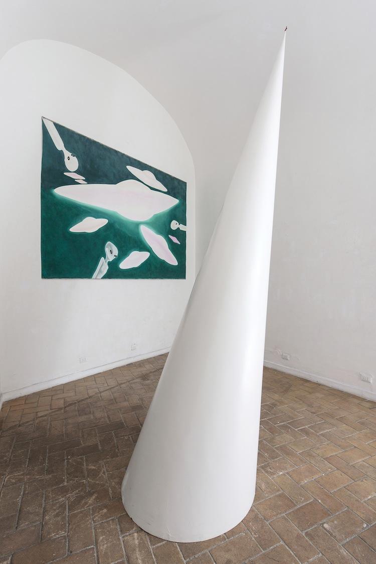 Stairway to heaven. Tommaso Lisanti | Maurizio Mochetti, veduta, PIOMONTI arte contemporanea, Roma