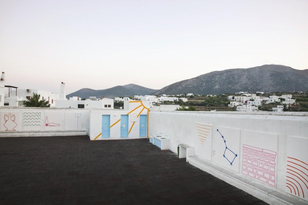 Stephen Felton, Mythos, Veduta dell'installazione, Sifnos (Grecia), 2015