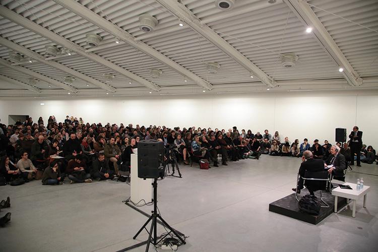Zygmunt Bauman intervistato da Wlodek Goldkorn per il ciclo di incontri Changes, 2015. Foto: Ivan D'Alì